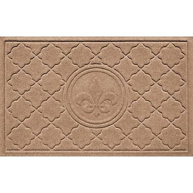 Bungalow Flooring Aqua Shield Bombay Fleur de Lis Doormat; Medium Brown