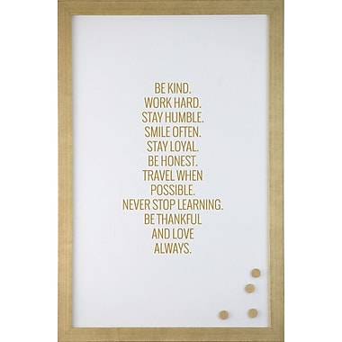 Petal Lane Be Kind Always Magnetic Memo Board; 1' 4'' H x 2' W
