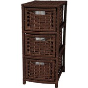 Oriental Furniture 3-Drawer Storage Chest; Mocha