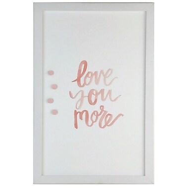 Petal Lane Watercolor Love More Magnet Memo Board; 2' H x 1' 4'' W