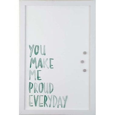 Petal Lane Watercolor Proud Magnetic Memo Board; 2' H x 1' 4'' W
