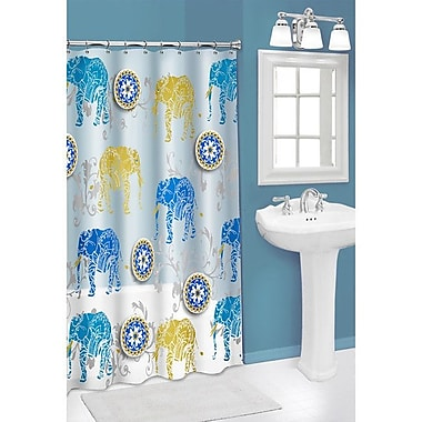 Sweet Home Collection 3D Elephant PEVA Shower Curtain