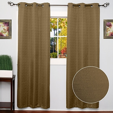 Sweet Home Collection Textured Thermal Blackout Curtain Panels (Set of 2); Taupe