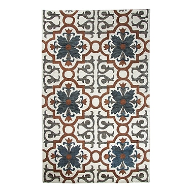 Dynamic Rugs Casual Rust/Blue Hand Woven Area Rug; 5' x 8'