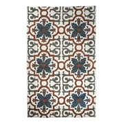 Dynamic Rugs Casual Rust/Blue Hand Woven Area Rug; 2' x 4'