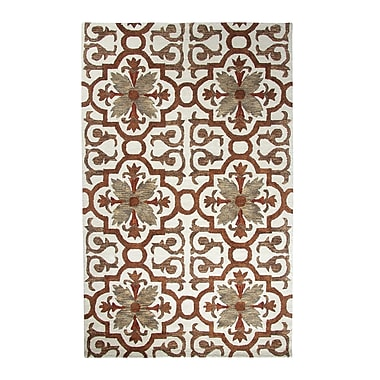 Dynamic Rugs Casual Rust Area Rug; 3'6'' x 5'6''