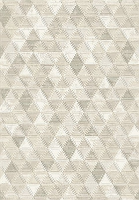 Dynamic Rugs Eclipse Ivory Area Rug; Rectangle 5'3'' x 7'7''