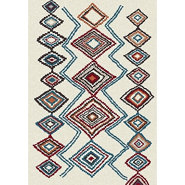 Dynamic Rugs Nomad Ivory/Blue Area Rug; 6'7'' x 9'6''