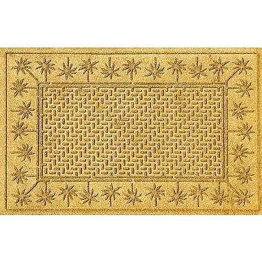 Bungalow Flooring Aqua Shield Island Palms Doormat; Yellow
