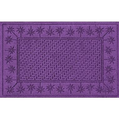 Bungalow Flooring Aqua Shield Island Palms Doormat; Purple