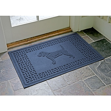 Bungalow Flooring Aqua Shield Beagle Doormat; Navy