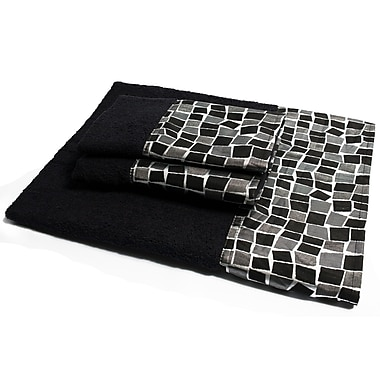 Sweet Home Collection Mosaic Stone 3 Piece Towel Set