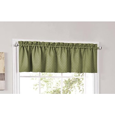 Sweet Home Collection Facets Blackout Insulated Kitchen Curtain Valance; Sage