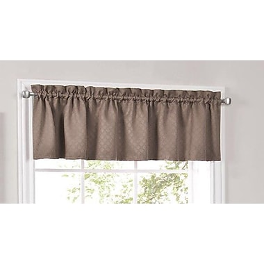 Sweet Home Collection Facets Blackout Insulated Kitchen Curtain Valance; Taupe