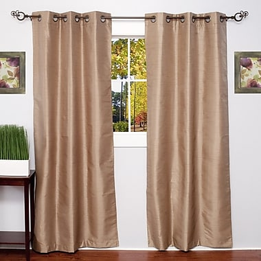 Sweet Home Collection Solid Thermal Blackout Curtain Panels (Set of 2); Taupe