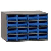 Akro Mils 19-Series 16 Drawer Storage Chest; Blue