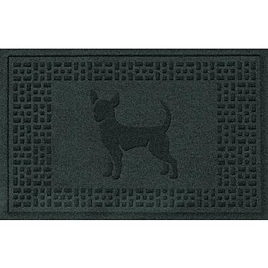 Bungalow Flooring Aqua Shield Chihuahua Doormat; Evergreen