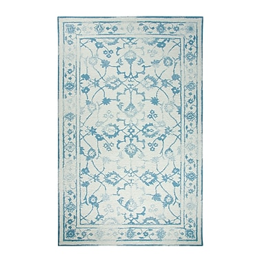 Dynamic Rugs Avalon Ivory/Light Blue Area Rug; 2' x 4'