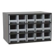 Akro Mils 19-Series 15 Drawer Storage Chest; Gray