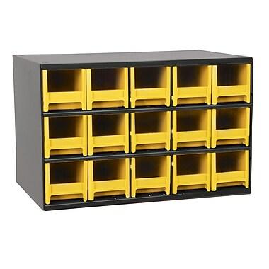 Akro Mils 19-Series 15 Drawer Storage Chest; Yellow