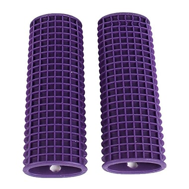 Sweet Home Collection Kitchen Utensil Pot Handle Holder Sleeve Cover Waffle Grip (Set of 2); Purple