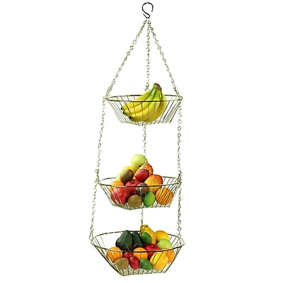 Sweet Home Collection 3 Tier Hanging Fruit Basket WYF078277986428