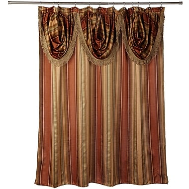 Sweet Home Collection Contempo Spice Shower Curtain