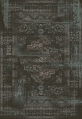 Dynamic Rugs Utopia Antique Charcoal Area Rug; Rectangle 9'2'' x 12'10''