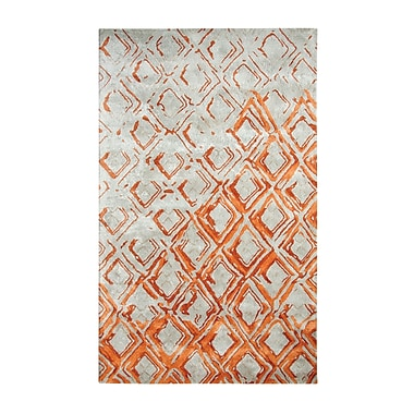 Dynamic Rugs Vogue Gray/Rust Area Rug; 2' x 4'