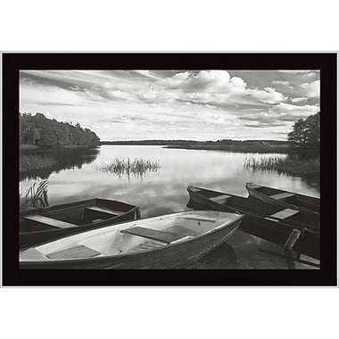 Tangletown Fine Art Four Boats at Sunset by Monte Nagler Framed Photographic Print
