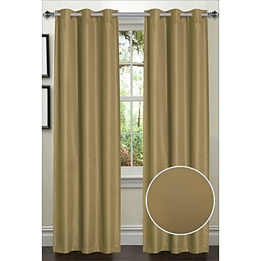 Sweet Home Collection Dot Thermal Blackout Curtain Panels (Set of 2); Taupe