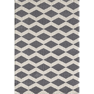 Dynamic Rugs Silky Gray/White Area Rug; 6'7'' x 9'6''