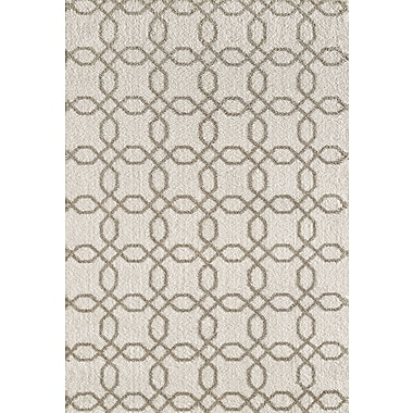 Dynamic Rugs Silky White/Beige Area Rug; 7'10'' x 10'10''