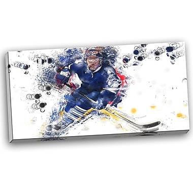 DesignArt Hockey Penalty Shot Graphic Art on Wrapped Canvas