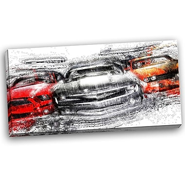 DesignArt American Street Race Graphic Art on Wrapped Canvas