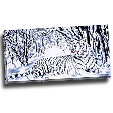 DesignArt White Tiger White Forest Graphic Art on Wrapped Canvas