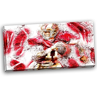 DesignArt Football Go Long Graphic Art on Wrapped Canvas