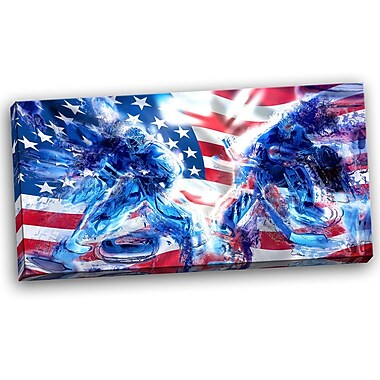 DesignArt Hockey USA Goalie Graphic Art on Wrapped Canvas