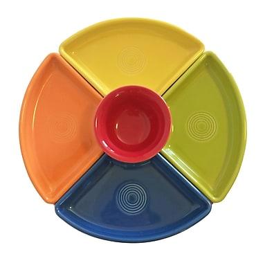 Fiesta 5 Piece Bowl Set; Sunflower/Tangerine/Lemongrass/Lapis/Scarlet