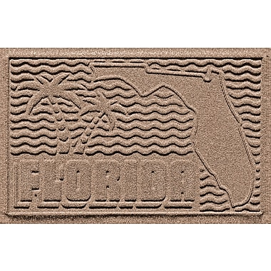Bungalow Flooring Aqua Shield Florida Doormat; Medium Brown