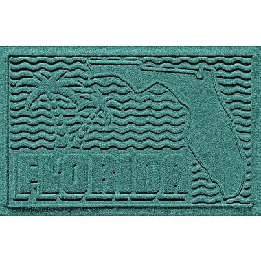 Bungalow Flooring Aqua Shield Florida Doormat; Aquamarine