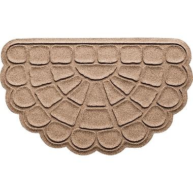 Bungalow Flooring Aqua Shield Cobblestone Slice Doormat; Medium Brown