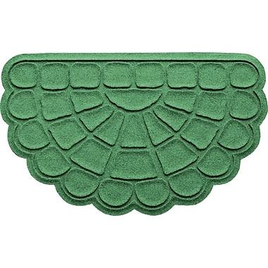 Bungalow Flooring Aqua Shield Cobblestone Slice Doormat; Light Green