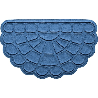 Bungalow Flooring Aqua Shield Cobblestone Slice Doormat; Medium Blue