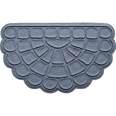 Bungalow Flooring Aqua Shield Cobblestone Slice Doormat; Bluestone