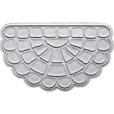 Bungalow Flooring Aqua Shield Cobblestone Slice Doormat; White