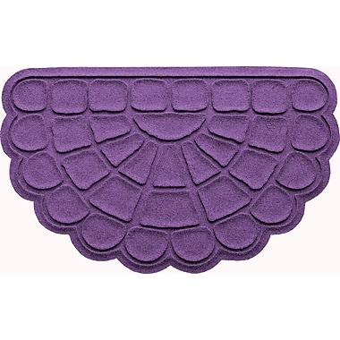 Bungalow Flooring Aqua Shield Cobblestone Slice Doormat; Purple