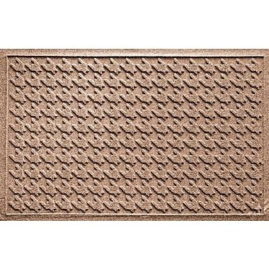 Bungalow Flooring Aqua Shield Houndstooth Doormat; Medium Brown