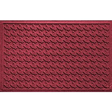 Bungalow Flooring Aqua Shield Houndstooth Doormat; Red/Black