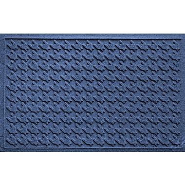 Bungalow Flooring Aqua Shield Houndstooth Doormat; Navy